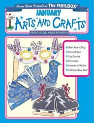 January Monthly Arts And Crafts By Mailbox Books Staff Excellent Condition