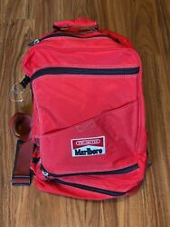 """Vintage Marlboro 1996 Red And Black Unlimited Gear Hiking Backpack/duffle 21""""x16"""""""