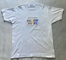 Vintage Bell Of Pennsylvania Yellow Pages Shirt Men Xl Single Stitch Grey