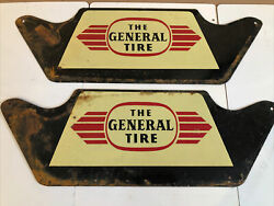 Rare Vintage Original The General Tire Metal Display Stand Sign Gas And Oil