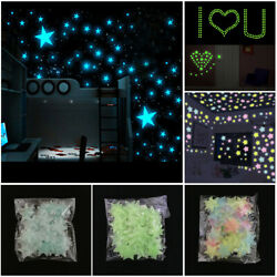 100pcs Glow In The Dark Luminous Stars Wall Stickers for Decal Kid Children Room