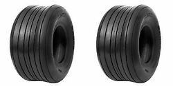 Two 16x650-8 16x6.50-8 16x650x8 Straight Rib Tires Heavy Duty 10 Ply Rated