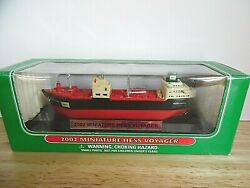 Mib 2002 Miniature Hess Voyager Ship On Display Stand