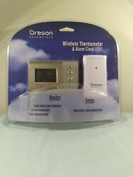 New Oregon Scientific Wireless Thermometer And Alarm Clock Rar 601 In/out Door