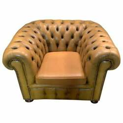 Chesterfield Club Chair From Senfgelbem Leather
