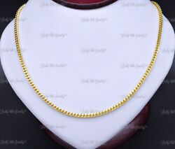 14k Solid Yellow Gold Franco Chain Necklace 22 Inch 34gram Lobster Clasp 3mm