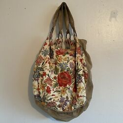 Anthropologie Colorful Floral Purse
