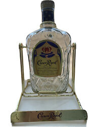 Crown Royal Display Rack Pouring Cradle Tilt And Pour With Empty Bottle