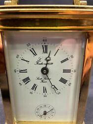 Vintage French L'epee Grande Striking Repeater Alarm Carriage Clock