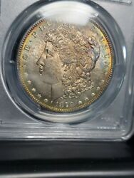 1879 S Morgan Silver Dollar Pcgs Ms67 Rainbow Toned Obv And Pl Rev