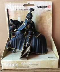 Schleich Black Knight On Horseback 70032 New In Package