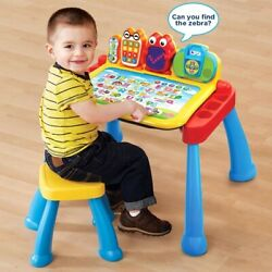 Kids Activity Desk Easel And Stool Vtech Touch And Learn Includes Activity Pages