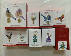 Hallmark Twelve 12 Days Of Christmas From 2013 To 2020 - 10 Ornaments Series Lot