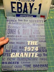 Vintage 1974 Unh University Of New Hampshire The Granite Yearbook Durham Nh