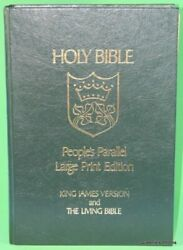 Holy Bible People's Parallel Large Print Edition King By Tyndale House Vg+