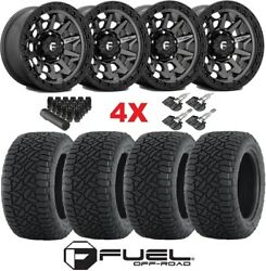 17 Fuel Covert Anthracite Wheels Rims Tires Gripper At 285 70 17 Fit Trd Set