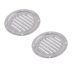 2pcs Round Louvered Vent Boat Yacht Air Vents Rustproof Ventilation Hole