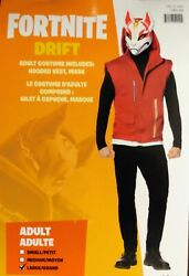 Drift Costume Fortnite Adult Large Vest And039n Mask Nwt Halloween Cosplay See Pics