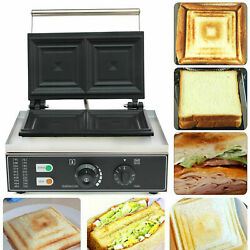 Nonstick Sandwich Maker Panini Press Grill Kitchen Cheese French Toast Cook 110v