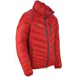 CAMP USA Chameleon Dual Jacket Red Down Primaloft CONVERTS TO VEST NEW