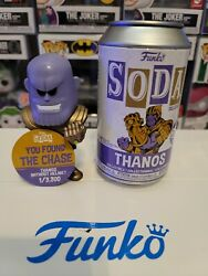 Funko Pop Soda +chase+ Thanos Without Helmet Le3300 New Marvel