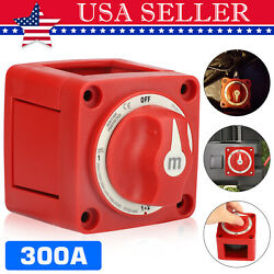 300a Selector Battery Switch 4-position Marine Red For Car Boat Rv Truck 12v-48v