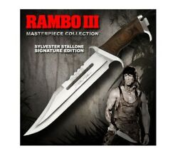 Hollywood Collectibles Hcg First Blood Pt Iii Rambo Stallone Signature Ed Knife