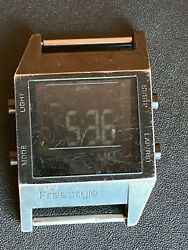 As Is Working Running Freestyle Highland Lcd Alarm Digital Module Watch Dive Wow