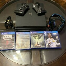Sony Playstation 4 Pro Ps4 Pro 1tb Cuh-7215b Console Black Tested Works