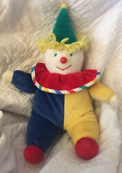 Eden Toys 12andrdquo Musical Clown Plush Red Blue Yellow Green You Are My Sunshine