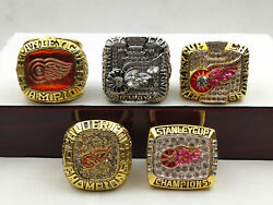 5ring1986 1997 1998 2002 2008 Detroit Red Wings Championship Ring