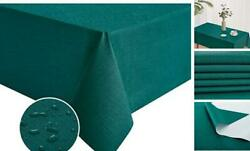 Rectangle Vinyl Tablecloth 100 Waterproof Oil Proof Spill 54x108 Inch Teal