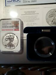 2019 S Enhanced Reverse Proof Silver Eagle Pf70. In Hand Ships Same Day.