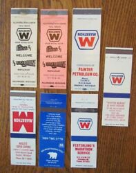 Marathon Gas Stations Lot Of 7 Different Matchbook Matchcover From Michigan G15