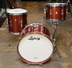 Ludwig 3pc Club Date Drum Set Copper Mist Vintage 1960and039s