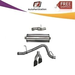 14826blk Corsa 304 Ss Cat-back Exhaust System Dual Side For Cadillac/gmc/chevy
