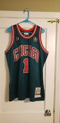 100 Authentic Mitchell And Ness 08/09 Chicago Bulls Derrick Rose Jersey 48 Xl