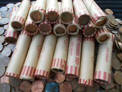 Lincoln Pennies 20 Rolls 1000 Coins 1959-1982 95 Copper Unsearched Pennies.