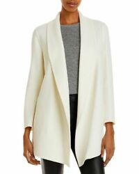 Theory Women And039s Jacket Blouson Outer Clairene Shawl Coat Ivory