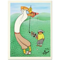 Xavier Cugat Skinny Golfer Numbered Limited Edition Lithograph Golf Golfing Art