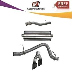 14749blk Corsa 304 Ss Cat-back Exhaust System Dual Side For Chevy/gmc/cadillac
