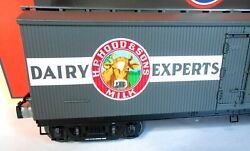 Lionel Hoodand039s Milk Car With Two Plated Milk Tanks. New In Box. 6-pictures