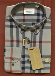 NWT Brand New With Tags Men#x27;s BURBERRY Long Sleeve Slim Fit Shirt $69.90