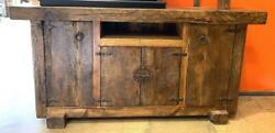 Old Reclaimed Wood And Beam Console Mexico.