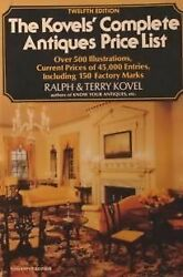 Kovelsand039 Complete Antiques Price List A Guide To 1979-1980 By Ralph And Terry Vg