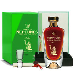 Neptunes Belize Rum Collection 70cl 40 Acryl Box Crystal Decanter Belize