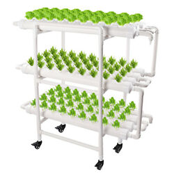Hydroponic Grow Kit 108 Sites 12 Pipes Hydroponic Plant Soilless Planting System