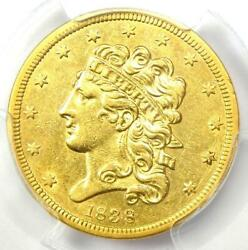 1838 Classic Gold Half Eagle 5 Coin - Certified Pcgs Xf Details - Rare Date