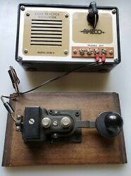 Vintage Collectible Telegraph Key And Sounder Educational Learning Practice