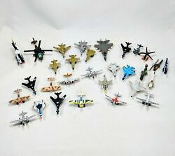 Micro Machines Vintage Airplanes Planes Helicopters Military Lot Of 25